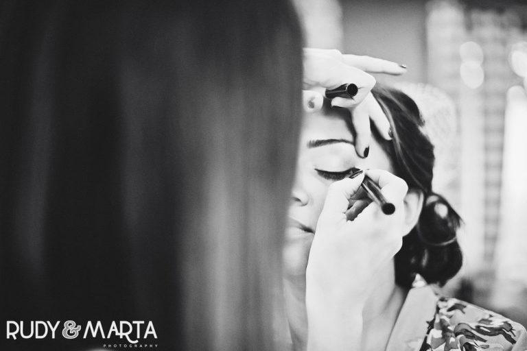 makeup pre-ceremony