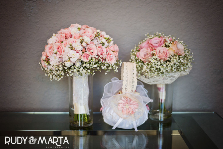 bridal party bouquets pink