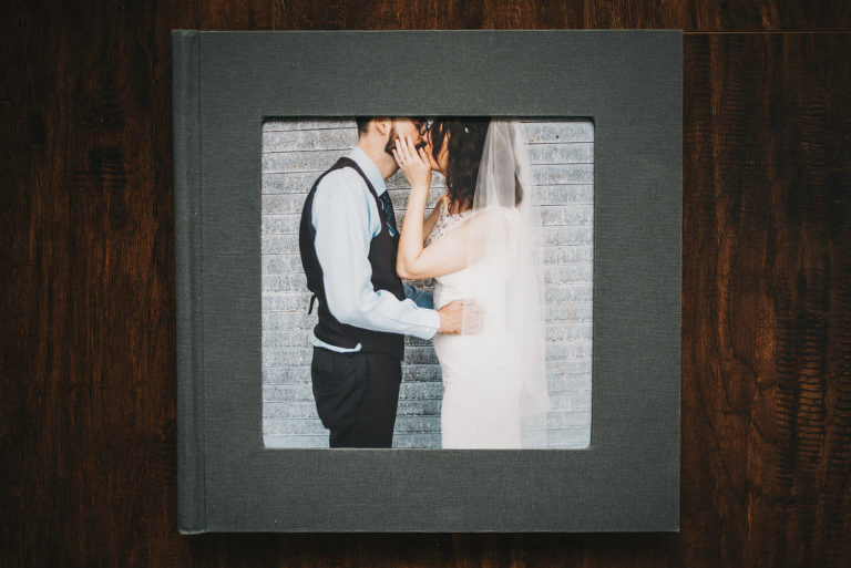gray wedding album