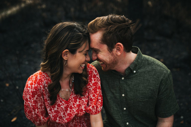 modern candid engagement session