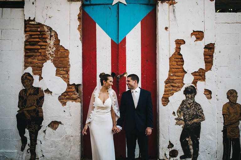wedding portrait puerto rico door old san juan destination
