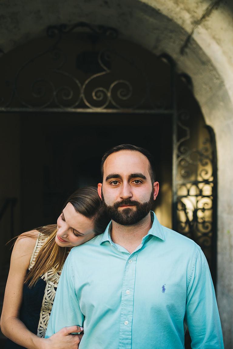 engaged groom portrait rollins college