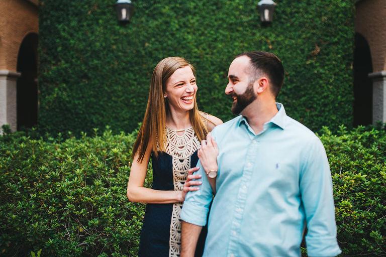 modern portrait engagement couple