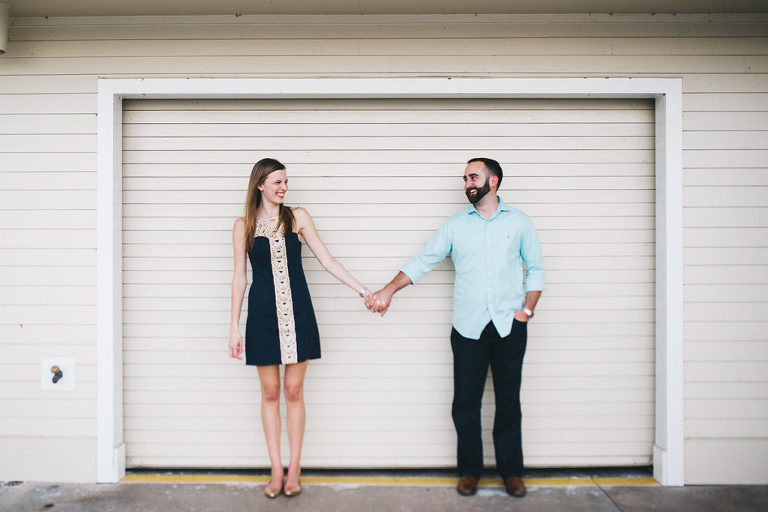 rollins college engagement session dock