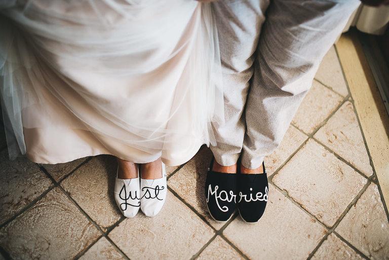 bride and groom custom TOMS destination wedding positano italy