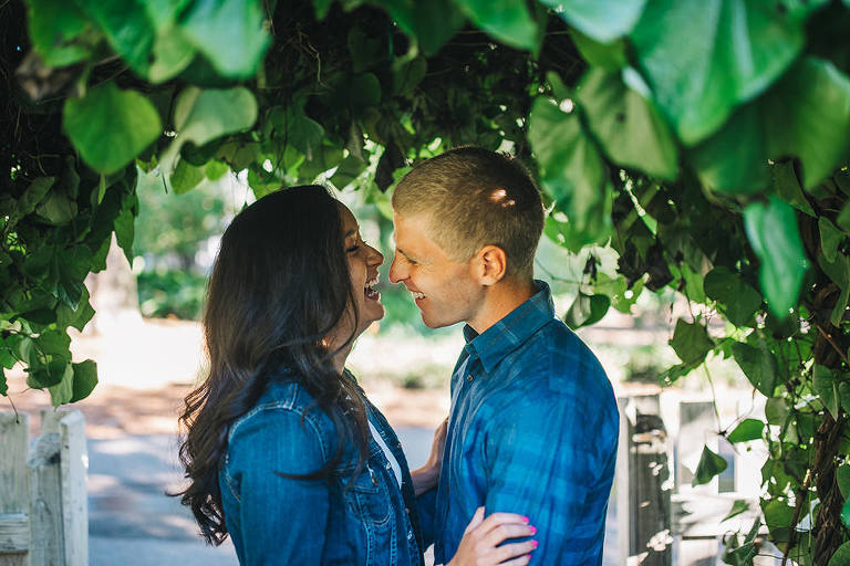 early morning engagement session