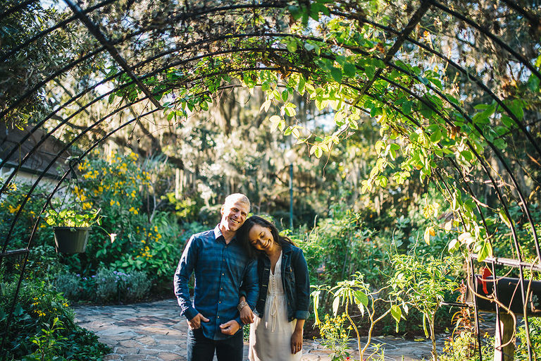 engagement session at leu gardens during early morning