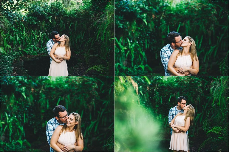 intimate engagement picture in bok tower gardens