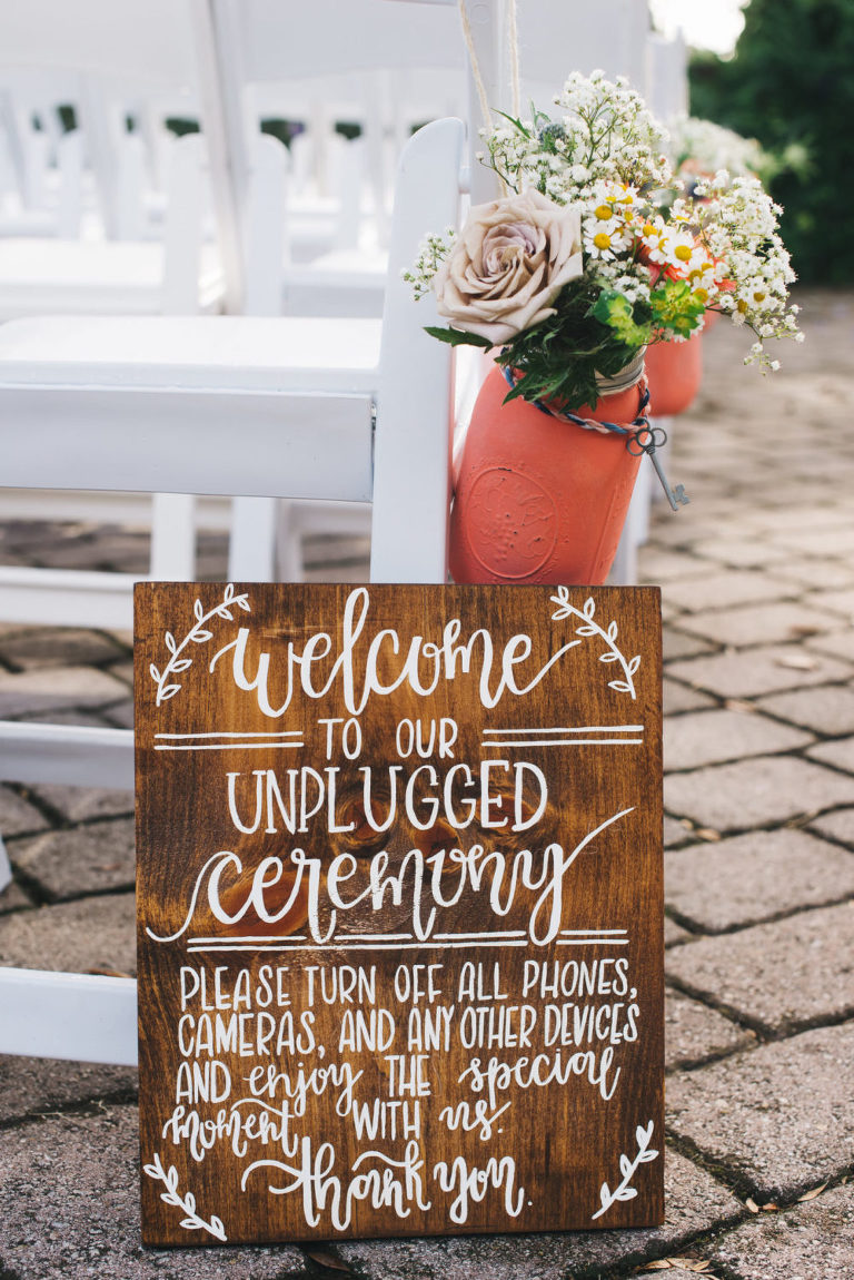 unplugged ceremony sign