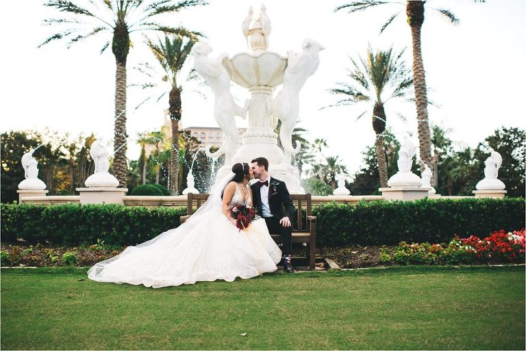 panther fountain ritz carlton wedding picture