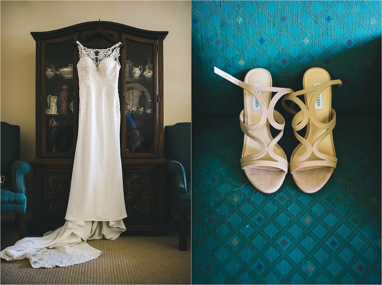 wedding dress and steve madden shoes