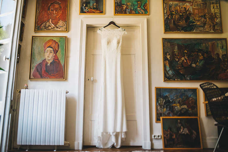 paris france destination wedding dress